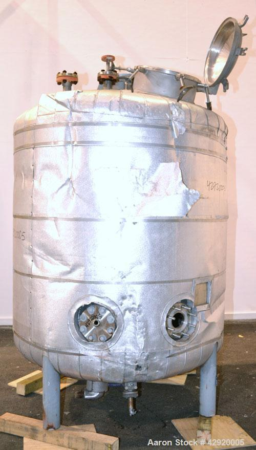 Used- 710 Gallon Stainless Steel Precision Stainless Reactor
