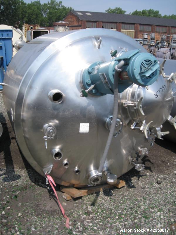 Used- 1500 Liter Stainless Steel Presicion Stainless Reactor