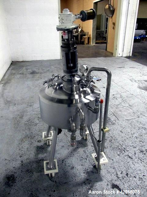 "Used- Precision Stainless Reactor, 60 Liter (15.85 Gallon). 316L Stainless steel construction, approximately 20"" diameter x ..."