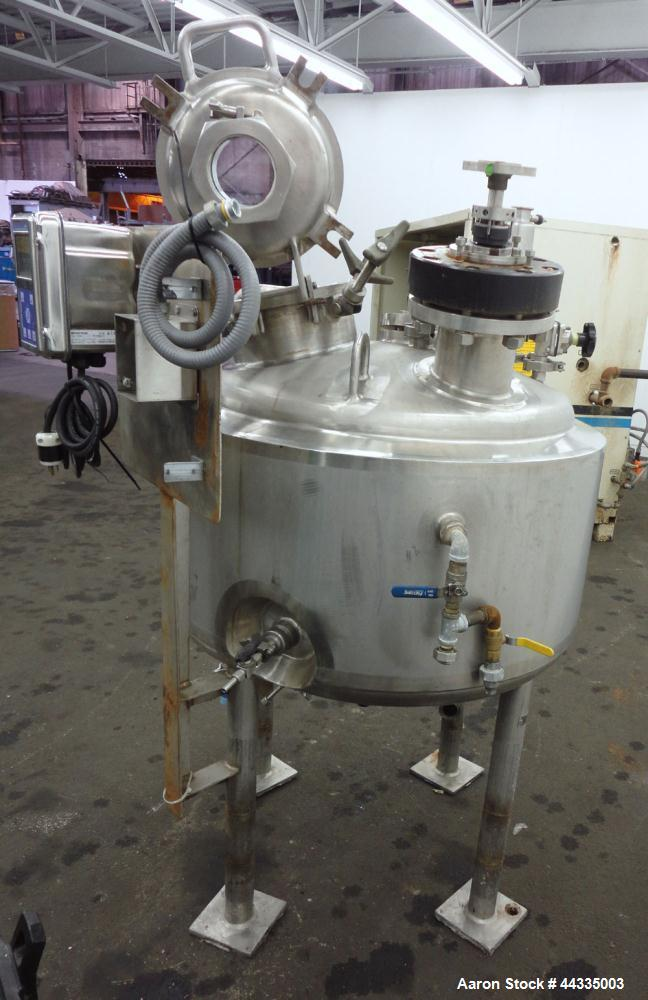 Used- Precision Stainless Reactor, 53 Gallon, 316L Stainless Steel, Vertical.