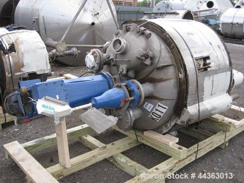 """Used- Precision Stainless reactor, 200 gallon, 316L stainless steel construction, 40"""" diameter x 31"""" straight side, semi ell..."""