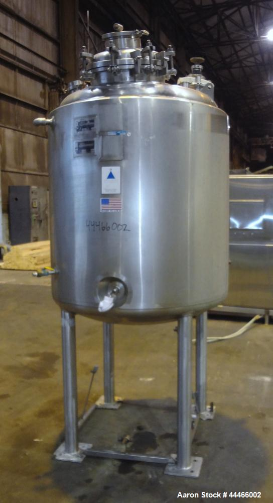 """Used- Precision Stainless Reactor, 1000 Liter (264 Gallon), 316L Stainless Steel, Vertical. 42"""" Diameter x 44"""" straight side..."""