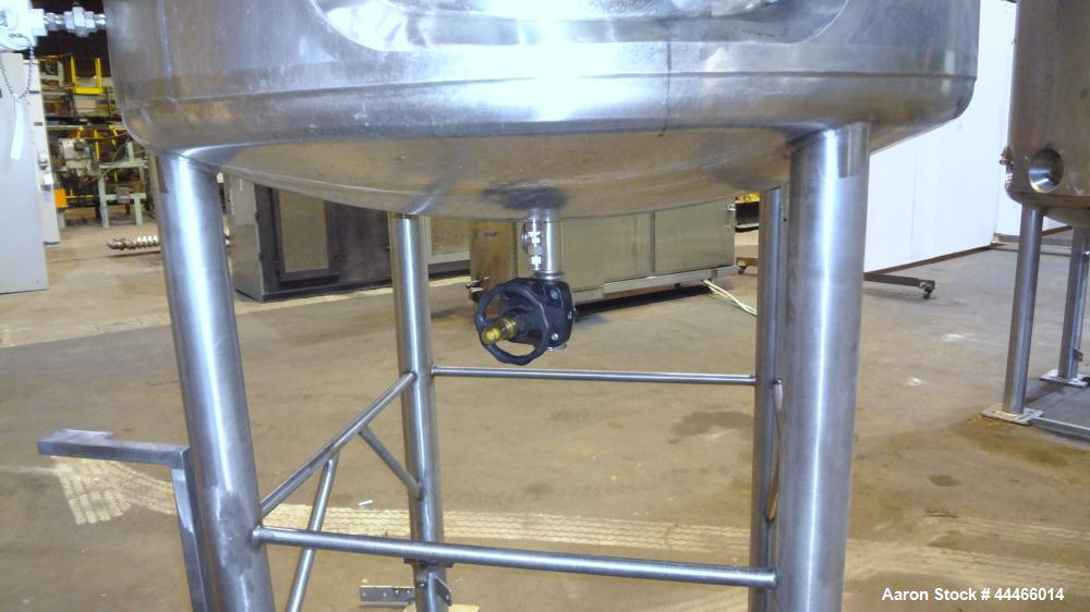 """Used- Precision Stainless Reactor, 1650 Liter (436 Gallon), 316L Stainless Steel, Vertical. 48"""" Diameter x 72"""" straight side..."""