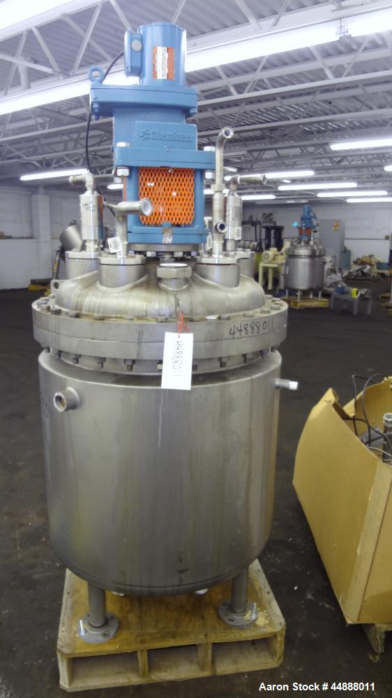 Used- 100 Gallon Stainless Steel Precision Stainless Reactor, Model C2I CVT