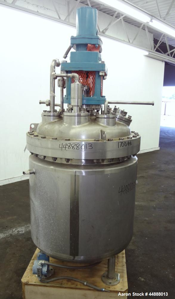 Used- 100 Gallon Stainless Steel Precision Stainless Reactor, Model C4I CVT