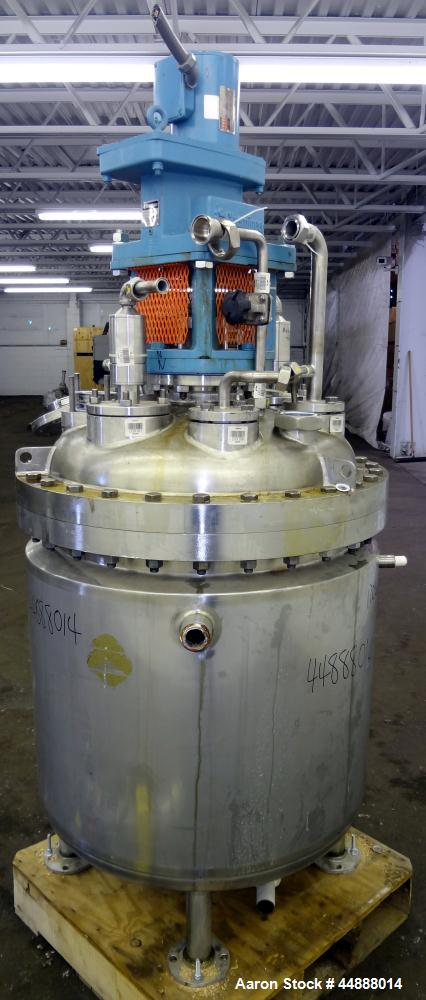 "Used- Precision Stainless Reactor, 100 Gallon, 316L Stainless Steel, Vertical. 30"" Diameter x 30"" straight side, dished bolt..."