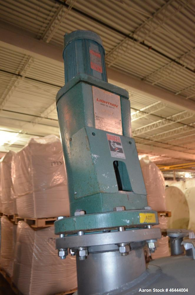"""Used- Precision Stainless Reactor,300 Gallon, 316L Stainless Steel, Vertical.48"""" Diameter x 40"""" straight side, dished top, s..."""