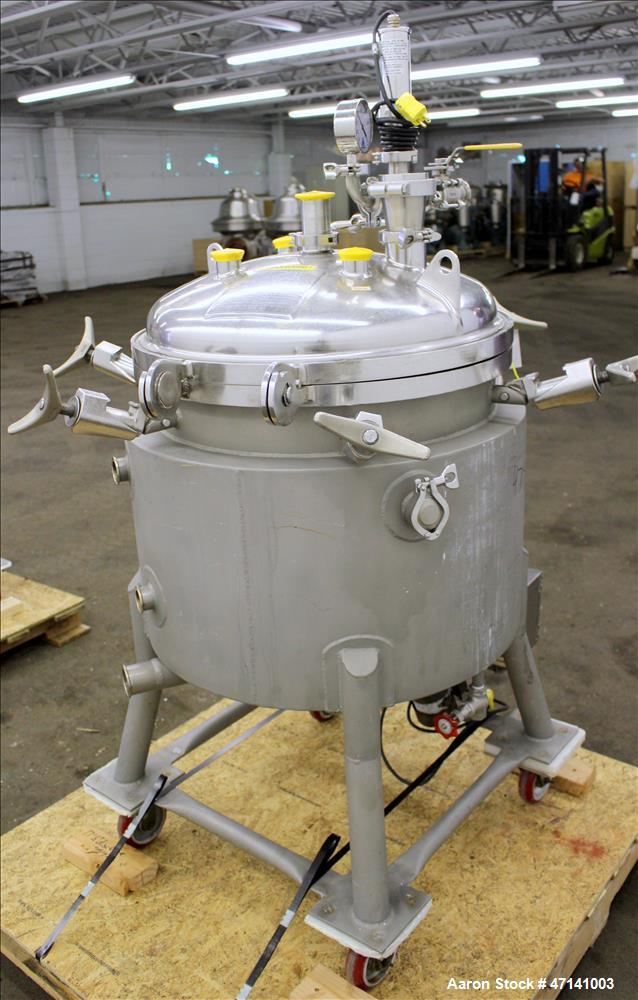 Used- Precision Stainless Reactor, 26.4 Gallons (100 litter), 316L Stainless Ste