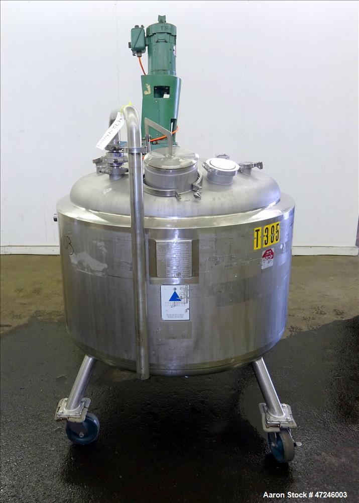 Used- Precision Stainless Reactor, 500 liter (132 Gallon), 316L Stainless Steel,