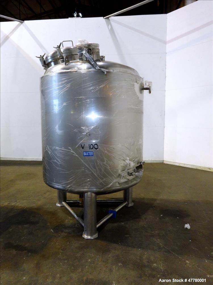 Used- Precision Stainless Reactor, 2300 Liter (607 Gallon), 316L Stainless Steel