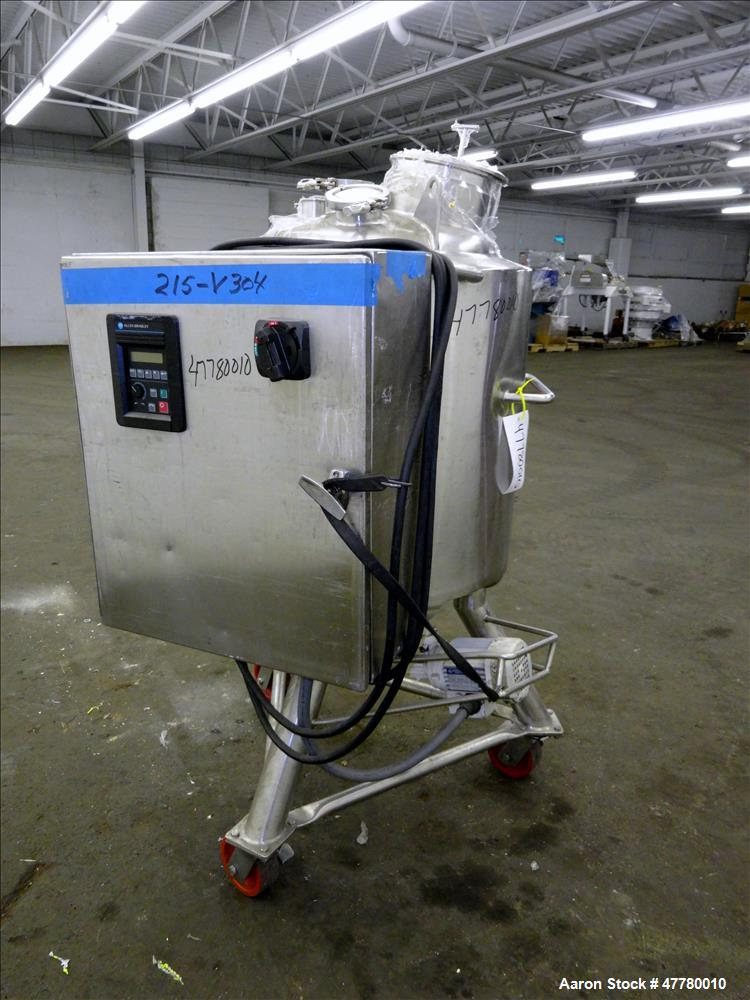 Used- Precision Stainless Reactor, 100 Liter (26 Gallon), 316L Stainless Steel,