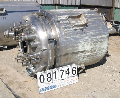 Used- 381 Gallon Stainless Steel Precision Stainless Reactor, Model EM060