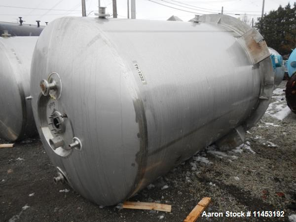 """Used-2000 Gallon Precision Reactor.  316L Stainless steel construction, 75"""" diameter x 12' straight side, dish top and botto..."""