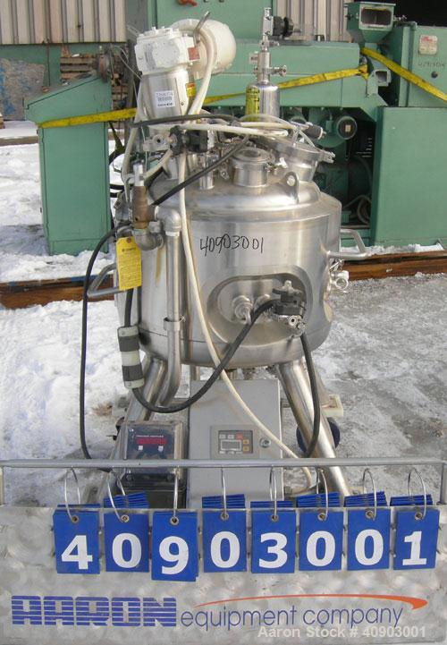 Used- Precision Stainless Reactor, 13.2 gallon (50 liter) working capacity, 19.8 gallon (75 liter) total capacity. 316 L sta...