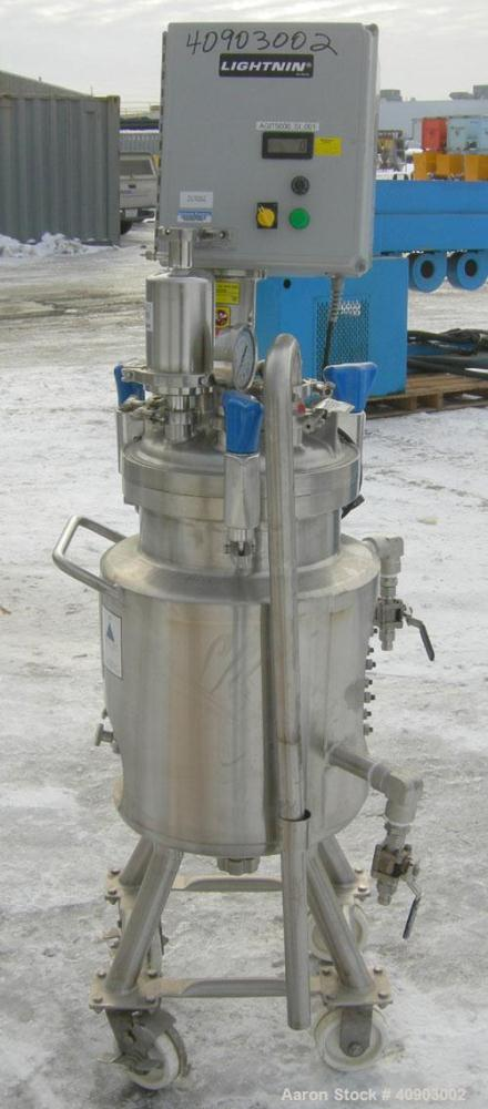 "Used- Precision Stainless Reactor, approximately 8 gallon (30 liter). 316 L stainless steel, vertical.  12"" diameter x 18"" s..."