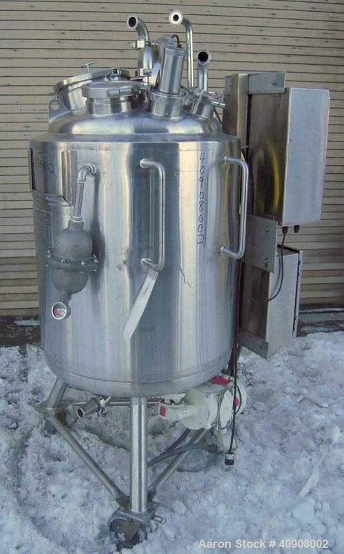 "Used- Precision Stainless Reactor, Approximately 66 Gallons (250 Liters), 316 L Stainless Steel, Vertical. 24"" diameter x 30..."