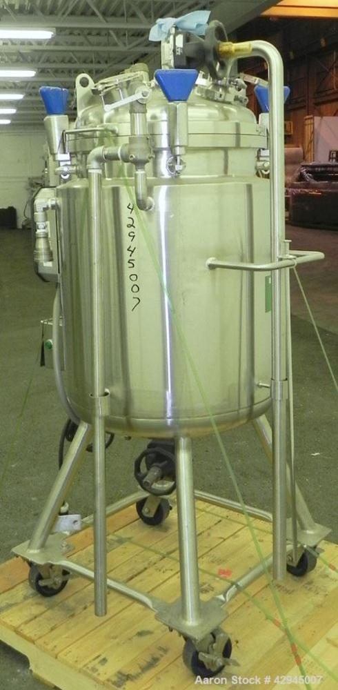 """Used- Precision Stainless Reactor, 39.6 Gallon (150 Liter), 316L Stainless Steel Vertical. 20-1/4"""" Diameter x 28"""" straight s..."""
