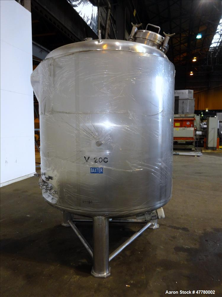 Used- Precision Stainless Reactor, 3000 Liter (792 Gallon), 316L Stainless Steel