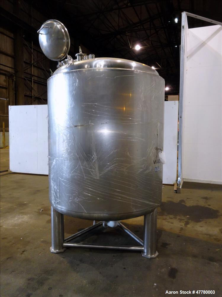 Used- Precision Stainless Reactor, 2700 Liter (713 Gallon), 316L Stainless Steel