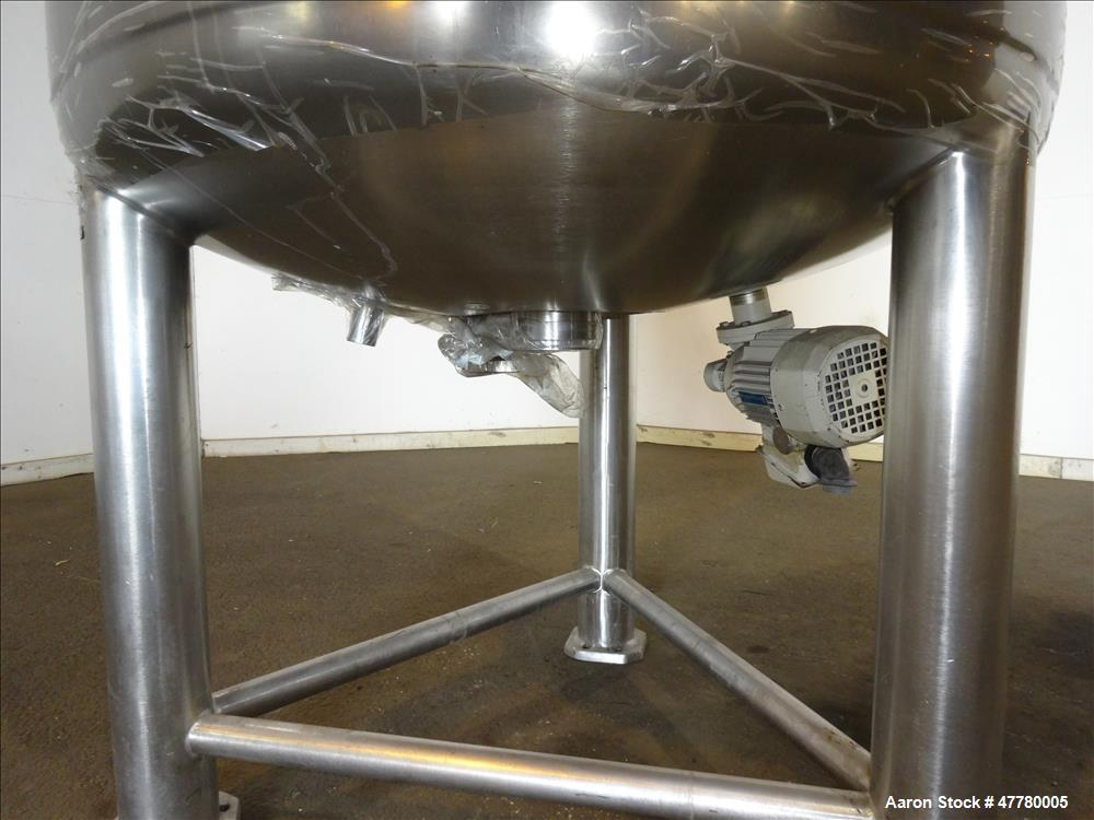 Used- Precision Stainless Reactor, 900 Liter (237 Gallon), 316L Stainless Steel,