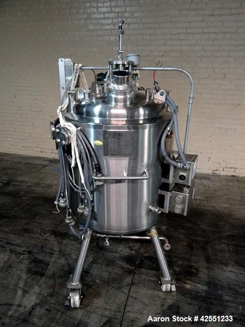 "Used-Precision Reactor Body, 200 Liter, 316L Stainless Steel. 24"" Diameter x 24"" straight side. Dished top and bottom. Inter..."