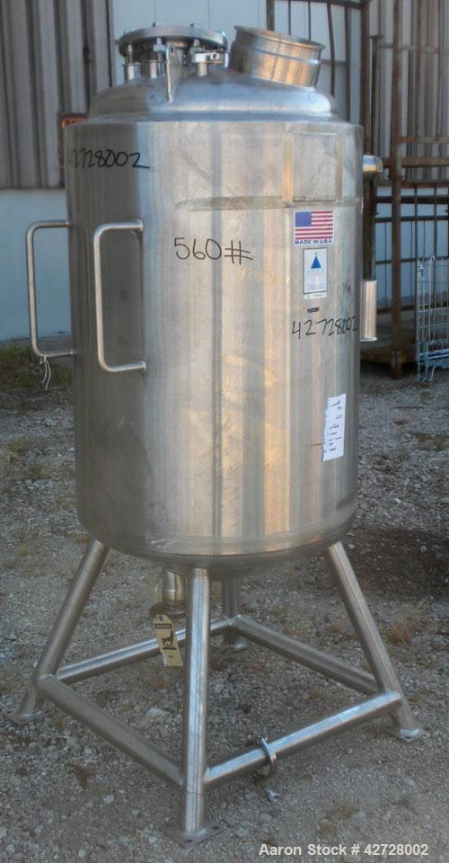 "Used- Precision Stainless Reactor, 277 Liter (73 Gallon), 316L Stainless Steel, Vertical. 24"" Diameter x 36"" straight side. ..."