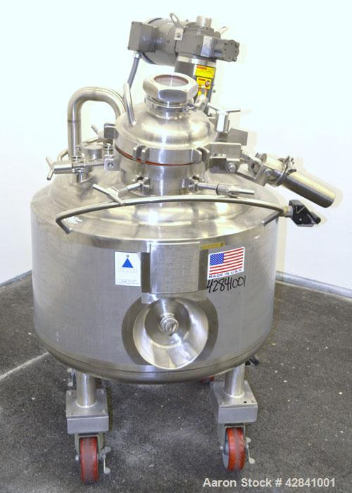"Used- Precision Stainless Reactor, 44 Gallons, 316L Stainless Steel, Vertical. Approximately 27"" diameter x 16"" straight sid..."