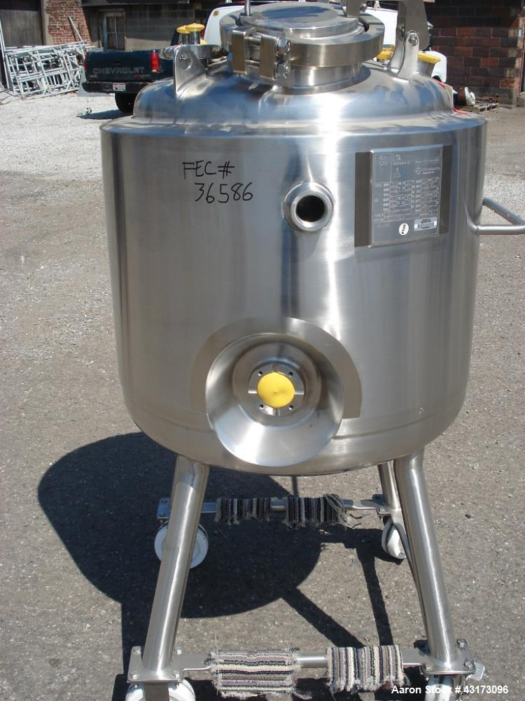 "Used-150 Liter Precision reactor, 316L stainless steel construction, 24"" diameter x 20"" straight side, Rated 50/15 psig @ 35..."