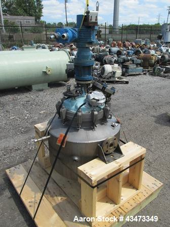 "Used- Precision Stainless Reactor, 10 Gallon, 316L Stainless Steel. Approximately 14"" diameter x 22"" straight side, removabl..."