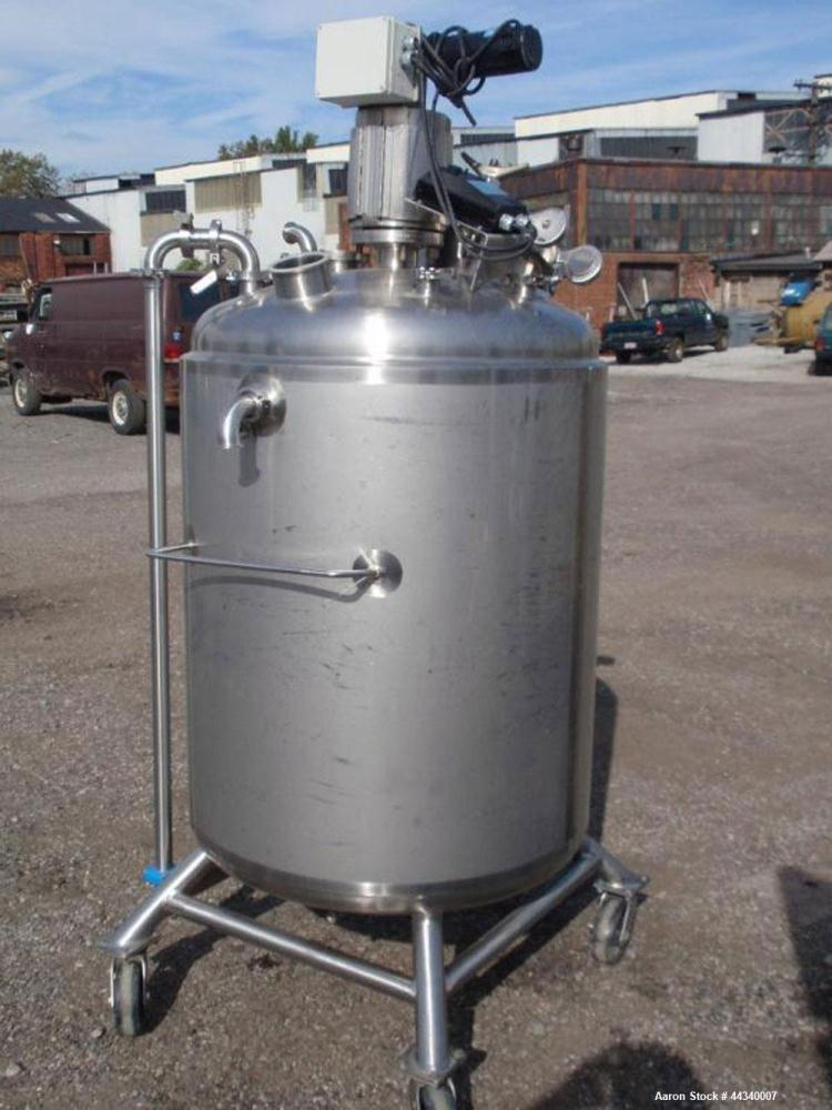 "Used- Presicion Stainless Reactor, 150 Gallon (600 liters), 316 Stainless Steel. Approximately 32"" diameter x 42"" straight s..."