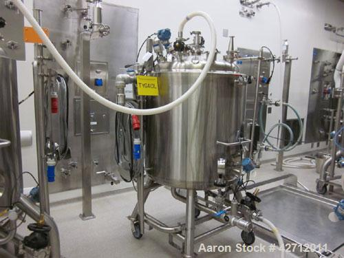 Used- Purflo Precision Reactor, 400 Liter (105 Gallon), 316L Stainless Steel. Internal rated 51 psi, 304L stainless steel ja...