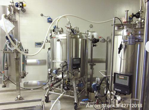 Used-Purflo Precision Reactor,400Liter (105Gallon), 316LStainlessSteel.Internal rated51 psi, 304L stainless steel ja...