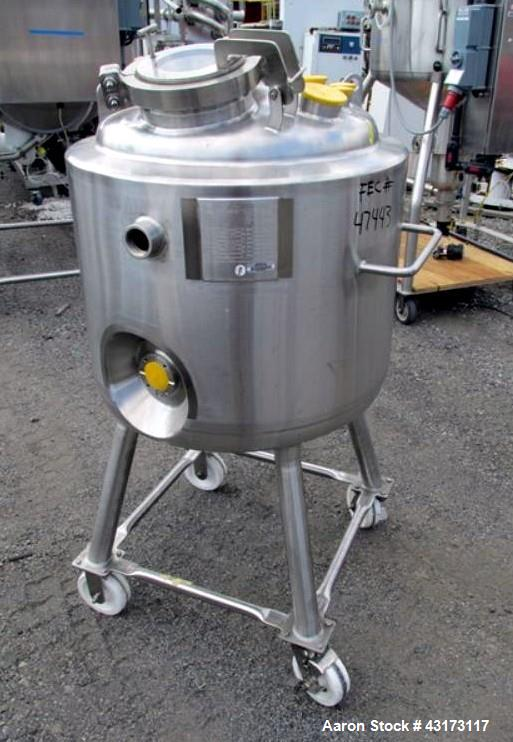 "Unused- Pure Flow Precision Reactor Body, 150 Liter. 316L Stainless steel construction, approximately 24"" diameter x 18"" str..."