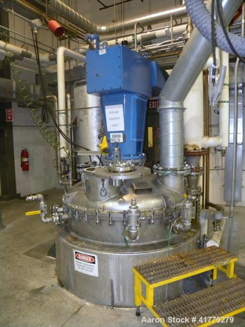 """Used- Roben Reactor, 1000 Gallon, Stainless Steel, Vertical.54"""" x 84"""" straight side, dished bolt on top, dished bottom. Int..."""