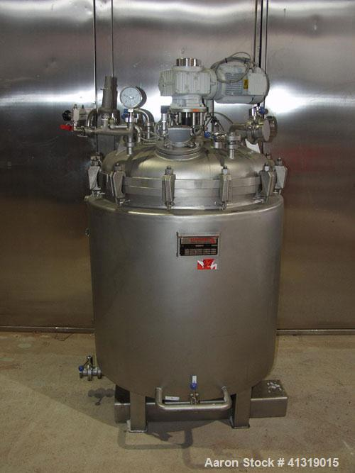 Used-Rothenburg 132 Gallon (500 liter) Reactor, stainless steel 316Ti (1.4571), double jacketed, hermetically, mounted on fe...