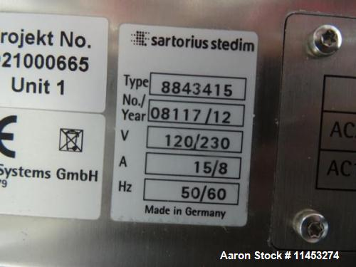 Used- Sartorius Stedim Biostat B Lab Fermenter System. Consisting of: (1) Biostat B twin version configuration controller, t...
