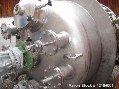 Used-Schleifenbaum & Weber Reactor, stainless steel 316Ti (1.4571). Capacity 938 gallons (3,550 liters), propeller agitator,...