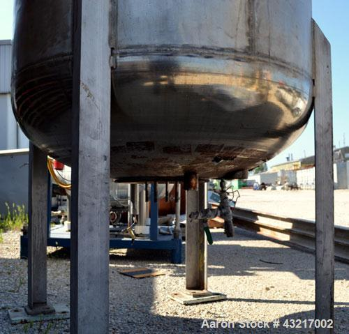 Used- Sisterville Reactor, 250 Gallon, 316 stainless steel, serial #95116, NB #3256, year 1995, internal rated 200 psi @ 572...