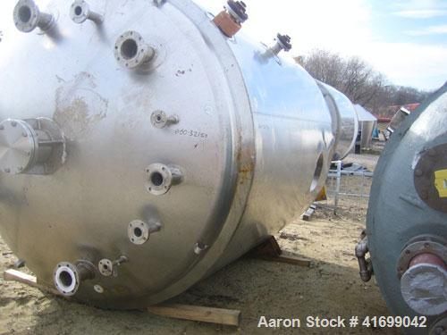 "Used- Stainless Fabrication Reactor, 3000 Gallon, 316L Stainless Steel, Vertical. 96"" diameter x 114"" straight side, dished ..."