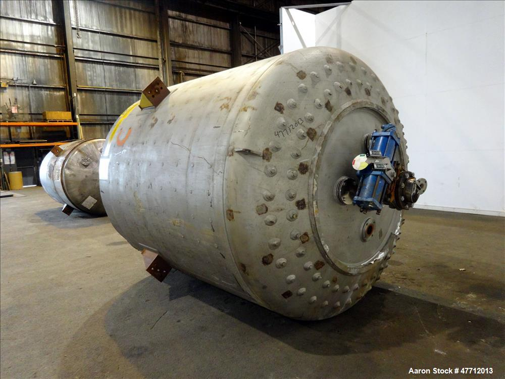 Used- Steel-Pro Reactor, Approximate 2200 Gallon, 316 Stainless Steel, Vertical