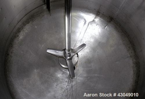 Used- Thermo Electron Reactor, 70 Gallon, 316 Stainless Steel, Vertical. 28'' Diameter x 24'' straight side, dished clamp-on...