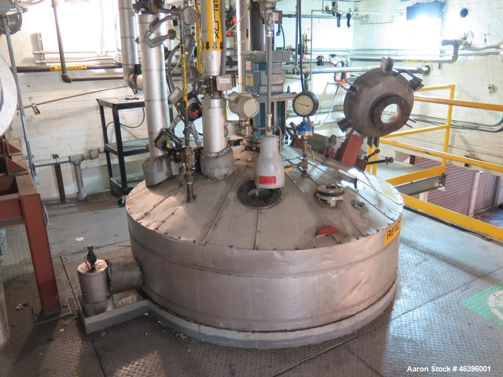 Used- Thermo Electron Reactor. 13,000 gallon, stainless steel, vertical, dished top and bottom, insulated, dimpled bottom. A...