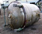 Used- Alpha Reactor, 1100 Gallons, 316L Stainless Steel, Vertical. 66