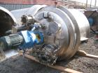 Used- Apache reactor, 500 Gallon, 316L stainless steel construction, 54