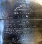 Used- Groen Reactor, 300 Gallon, Model 300 GAL.SP, 316 Stainless Steel, Vertical. 48