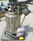 Used- Parr reactor, 1/2 gallon, 316 stainless steel, vertical. Approximately 4