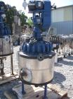 Used- Pfaudler reactor, 30 gallon, 316 stainless steel construction, approximately 18