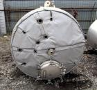 Used- Precision Jacketed Receiver, 2800 L iter (700 Gallon). 316L Stainless steel construction, approximately 60