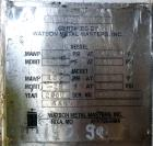 Used- Watson Metal Masters Reactor, 150 Gallon, 316L Stainless Steel, Vertical. 34