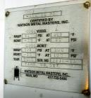 Used- Watson Metal Masters Reactor, 600 Gallon, 316L Stainless Steel, Vertical. 52.25